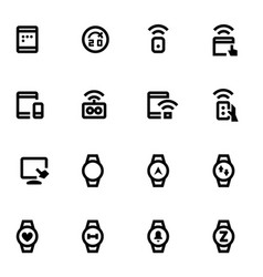 Smart devices icons vector