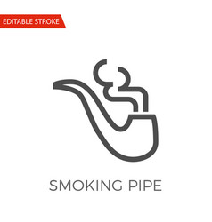 smoking pipe icon vector image
