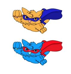 SUPER-CAT blue red vector image