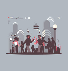 System tracking people in crowd vector