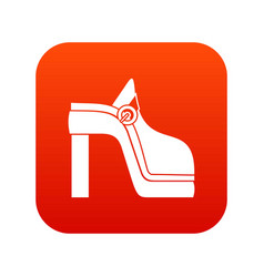 women shoe icon digital red vector image