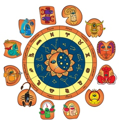 Funny horoscope vector