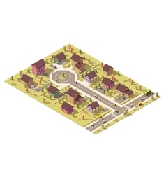 isometric low poly suburb vector image