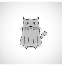 cute fat kitten vector image