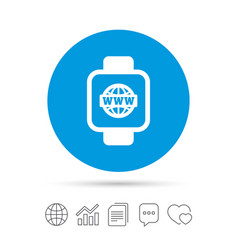 smart watch sign icon wrist digital watch vector image