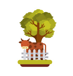 Agriculture production landscape icon vector