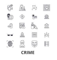 crime prison law security policelegalthief vector image