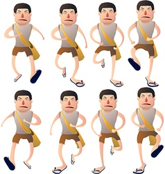 Boy walk cycle vector
