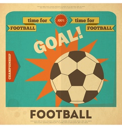Football placard vector