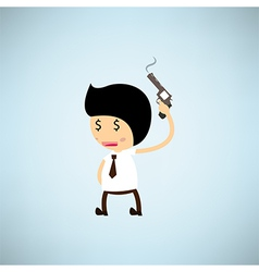 Shoot the gun eps10 vector