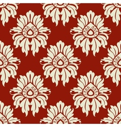 Beige floral seamless pattern vector
