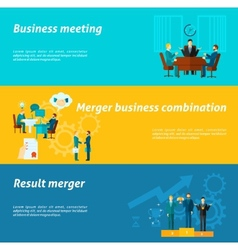 Collaboration banner set vector