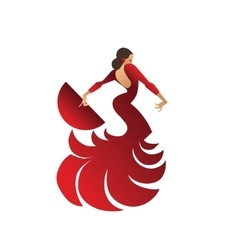 Flamenco dancer holding spectacular pose vector