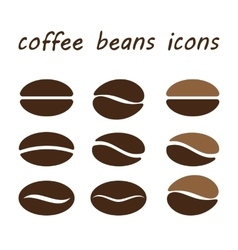 set coffee beans vector image
