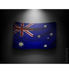 Waving flag australia on a dark wall vector