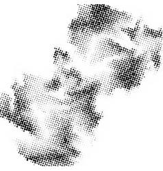 Abstract halftone circles dot template eps 10 vector