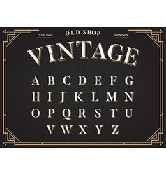 Alphabet font all letters set with classy stylish vector