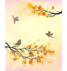 Autumn morning vector image vector image