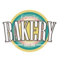 Bakery label design vector