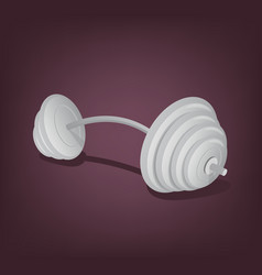 barbell isolated icon vector image