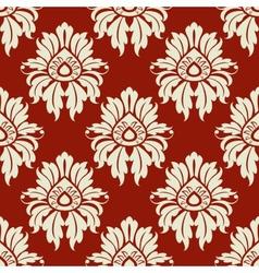 Beige floral seamless pattern vector