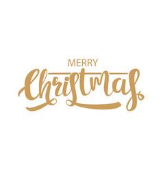 Calligraphic christmas holiday greeting card vector