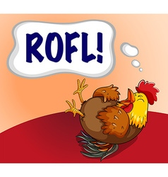 Chicken laughing with expression word vector