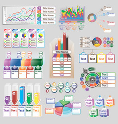 color infographics with different individual vector image vector image