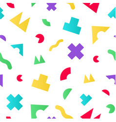 Colorful seamless pattern with geometric random vector