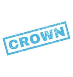 Crown rubber stamp vector