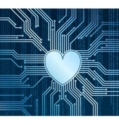 Cyberheart vector