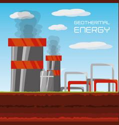 Flat concept geothermal generator energy vector