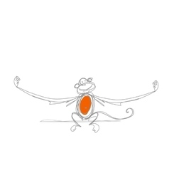 Funny monkey sketch for your design vector