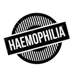 Haemophilia rubber stamp vector