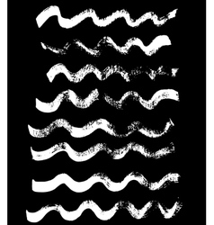 Handdrawn ink brush wave strokes vector image vector image