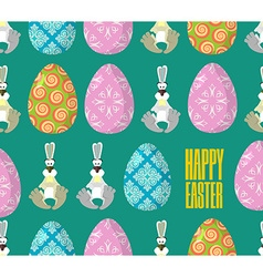 Happy Easter Easter seamless pattern Traditional vector image