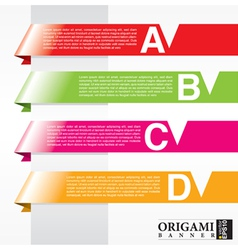 Horizontal origami ribbon banners EPS10 vector image vector image