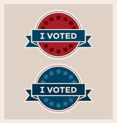 I voted circle banner and ribbon set vector