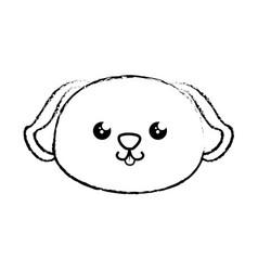 Kawaii dog ico vector