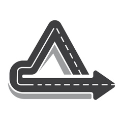Looping triangular tarred highway vector image
