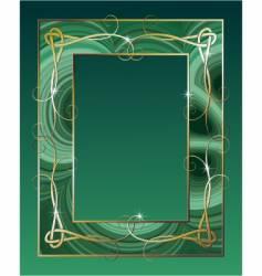 malachite border vector image vector image