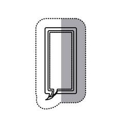 Monochrome contour sticker of large rectangle vector