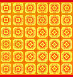 orange geometric seamless pattern vector image
