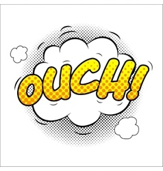 Ouch sound effect vector