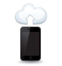 Smart phone cloud vector