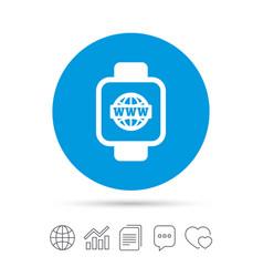 Smart watch sign icon wrist digital watch vector