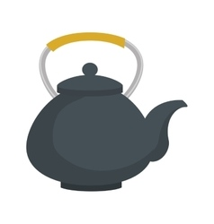 teapot hot drink japan icon graphic vector image