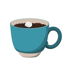 Chocolate drink mug sweet icon graphic vector