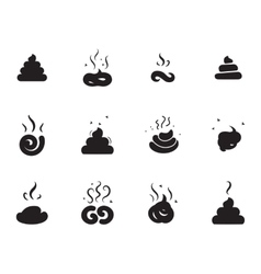 Simple poop icon on white background vector