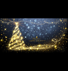 Christmas magic tree vector